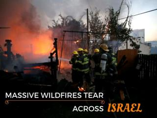 Massive wildfires tear across Israel
