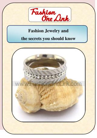 Fashion jewelry and the secrets you should know