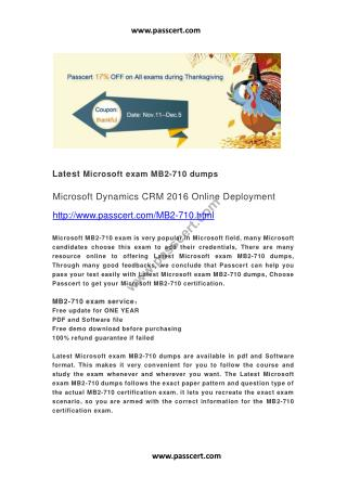 Microsoft exam MB2-710 dumps