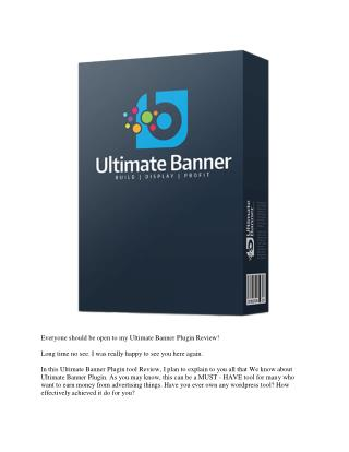 Ultimate Banner Plugin Review
