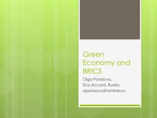 Green Economy and BRICS