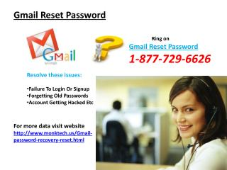 Feasible Gmail password reset Solution@1-877-729-6626 Reset Gmail password