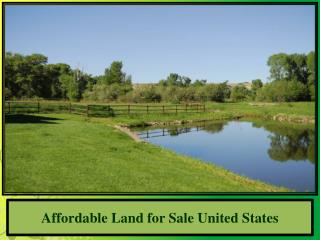 Affordable Land for Sale United States