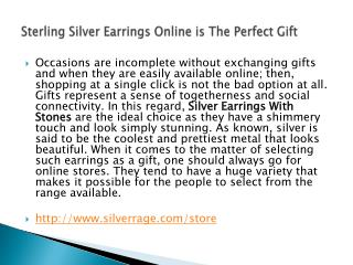 Sterling Silver Earrings Online is The Perfect Gift