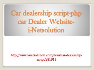 Car dealership script-php car Dealer Website-i-Netsolution