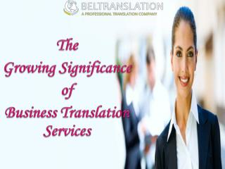 The growing significance of business translation services