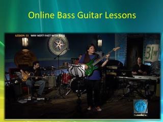 Online Bass Guitar Lessons
