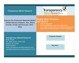 Passive Fire Protection Materials Market - Size, Share, Growth, Trends and Forecast, 2012 - 2018