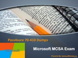 Pass4sure 70-410 dumps