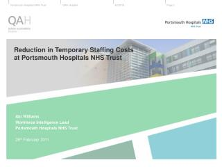 Reduction in Temporary Staffing Costs  at Portsmouth Hospitals NHS Trust
