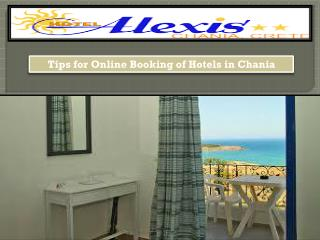 Tips for Online Booking of Hotels in Chania