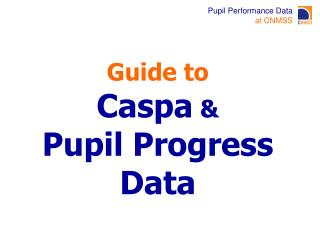 Guide to Caspa  &  Pupil Progress Data