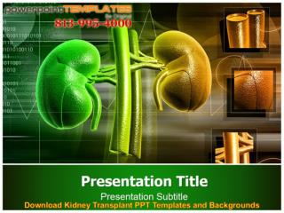 Download Kidney Transplant PPT Templates and Backgrounds