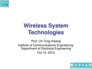 Wireless System Technologies