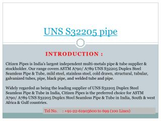 UNS S32205 pipe