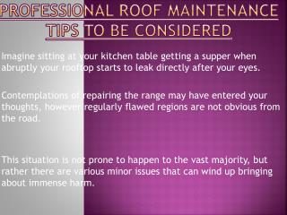 Tips To be Considered While Hiring Professionals Roofing Contractors