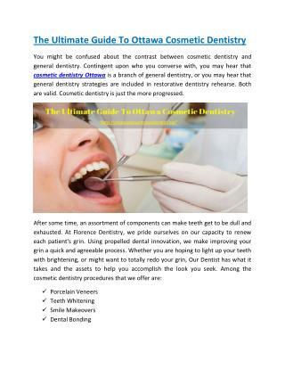 The Ultimate Guide to Ottawa Cosmetic Dentistry