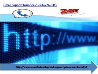 Dial Gmail Support Number :- 1-866-224-8319 for 4-Step Solution
