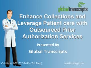 Enhance Collections and Leverage Patient care with Outsourced Prior Authorization Services