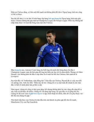 Hazard cho rằng Chelsea và Liverpool có lợi vì không đấu C1