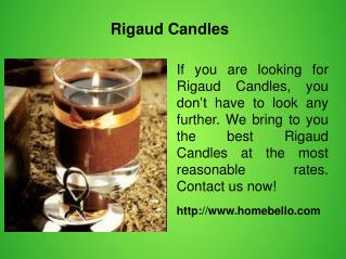 Rigaud Candles