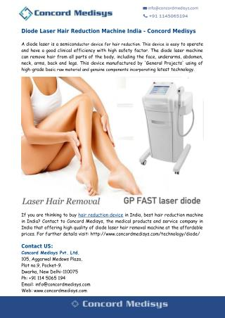 Diode Laser Hair Reduction Machine India