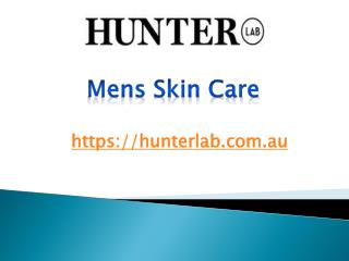 Mens Skin Care - hunterlab.com.au