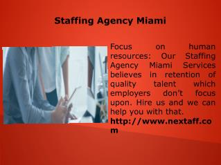 Staffing Agency Miami