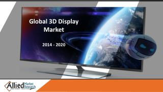 3D Display Market Segments by Type, Technology, Access Methods, Application and Industry Forecast - 2020