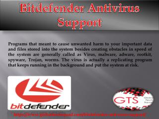 Bitdefender Antivirus Support Toll Free:1-800-294-5907