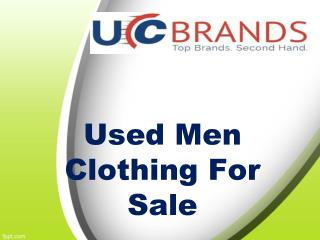 Low Price Used Men Clothing For Sale