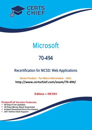70-494 Certification Preparation Material