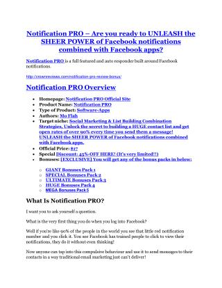 Notification PRO Review and (FREE) Notification PRO $24,700 Bonus