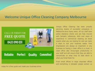 Commercial Ceaning Service Melbourne