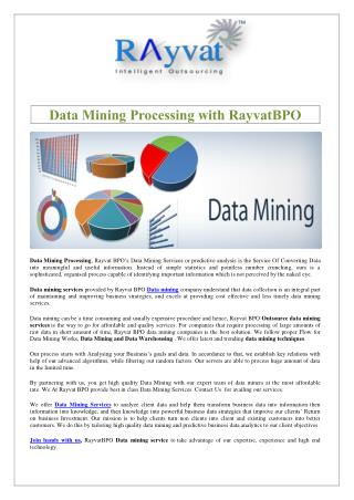 Data Mining Processing with Rayvat