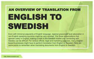 Overview of Translation Services