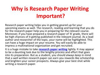 Research Paper Writing Service From MyAssignmenthelp.com
