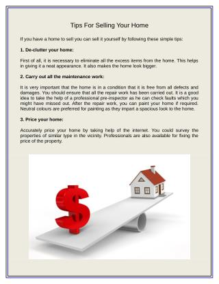 Tips for Selling a Home Online
