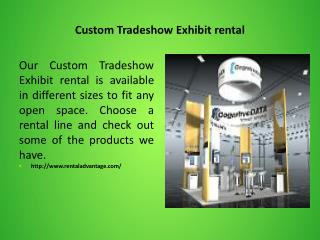 Custom Tradeshow Exhibit rental