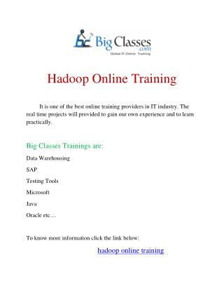 hadoop online training