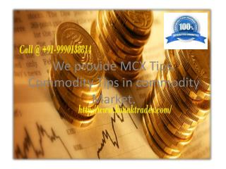 MCX Commodity Trading Tips Provider