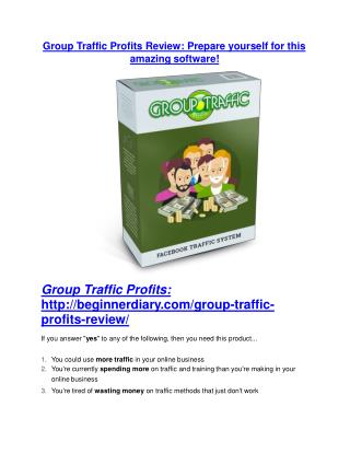 Group Traffic Profits review and Group Traffic Profits $11800 Bonus & Discount