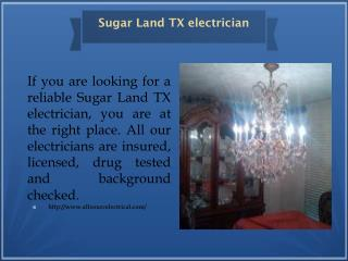 Sugar Land TX electrician