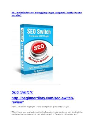 SEO Switch Review-$32,400 bonus & discount