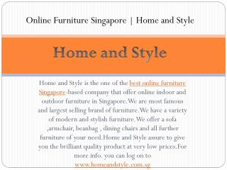Best online furniture singapore | Home and style