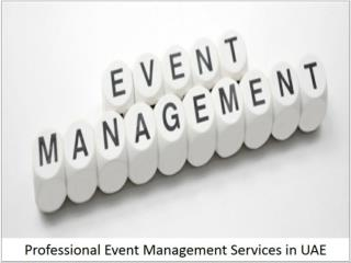 Professional Event Management Services in UAE