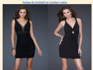 Robes de cocktail en couleur noire