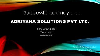 Adriyana Corporate Journey as a Placement Consultants