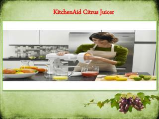 KitchenAid stand mixer with Citrus Juicer