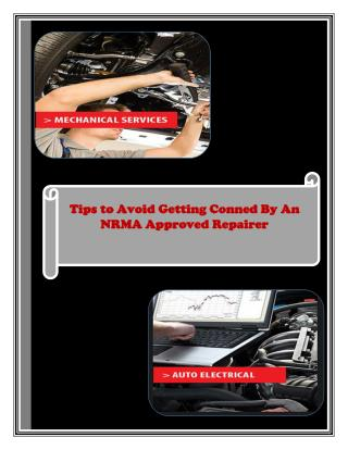 Tips to Avoid Getting Conned By an NRMA Approved Repaire